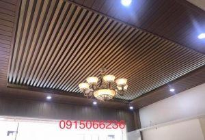 Ốp lam nhựa tại Hà Nội- Tại sao sử dụng lam gỗ nhựa ốp trần